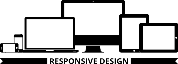 Responsive Design with Blue Group Graphics